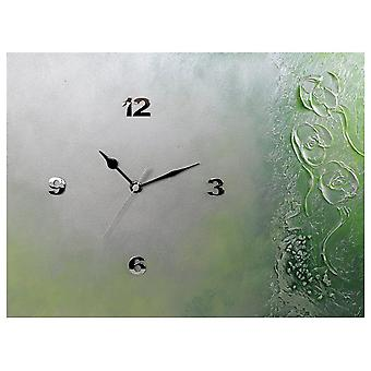 K Edition K1017 limited designer wall clock quartz handmade unique silver green