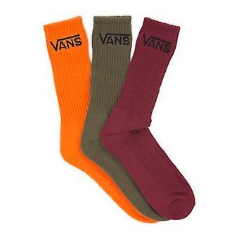 Vans Classic Crew 3 Pack Socks - Flame