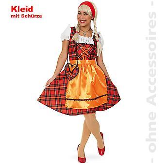 Oktoberfest costume Dirndl ladies of Franzi Scots Dirndl Dress ladies costume