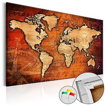 Decoratieve Pinboard - Amber wereld [Cork kaart]