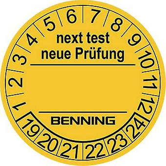 300 pieces of test labels for benning device tester 756212(Ø) 30 mmNext Test