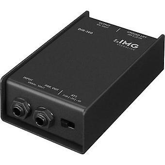 Passive DI box 1-channel IMG STAGELINE DIB-100