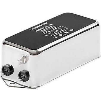 Schaffner FN 2070-1-06 Line filter + IEC socket 250 V AC 1 A 22 mH (W x H) 85 mm x 30.3 mm 1 pc(s)
