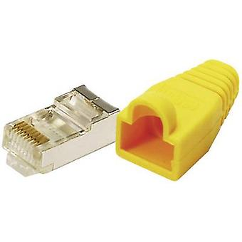 LogiLink MP0015 Plug CAT 5E beskytte gule 8P8C RJ45 stik, lige gul