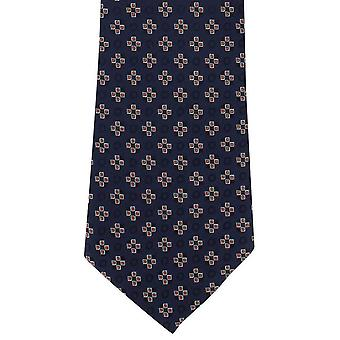 Michelsons of London Squares Motif Polyester Tie - Orange