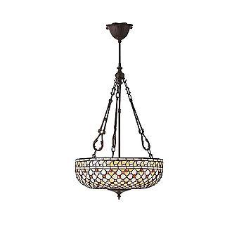 Lumière de Mille Feux 3 intérieurs 1900 inversé au plafond Pendanta