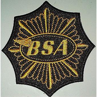 Bsa Octagon Gold Star Sew-On Embroidered Patch