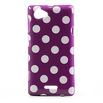 Schutzhülle für Handy Sony Xperia L S36h lila/violett