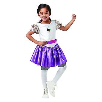 Chica de traje de niño clásico nella Caballero Caballero mesa redonda carnaval castillo