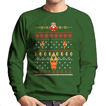 Zelda Christmas Knit Pattern Men's Sweatshirt