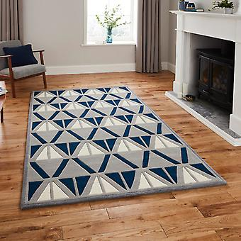 Rugs -Hong Kong - HK1374 Grey / Navy