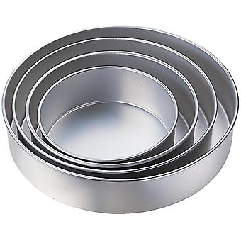 Kabalo 5pc Wedding Cake Tin Pan BAKING BAKE TRAY ROUND LAYER SET (diameters: 24, 26, 28, 32, 36cm)