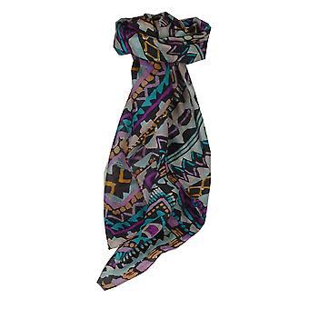 Тутовых шелка современной площади шарф Sherina Аквамарин, пашмины & шелка
