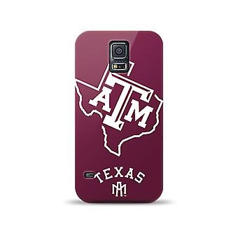 Mizco Sports NCAA Oversized Snapback TPU Case for Samsung Galaxy S5 (Texas A&M Aggies)