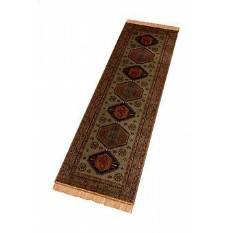 Green Afghan Kazak Hall Runner Rugs  9379/16