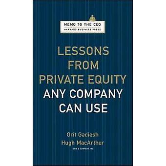 Lessen uit Private Equity een onderneming kunt gebruiken door Orit Gadiesh - knuffel