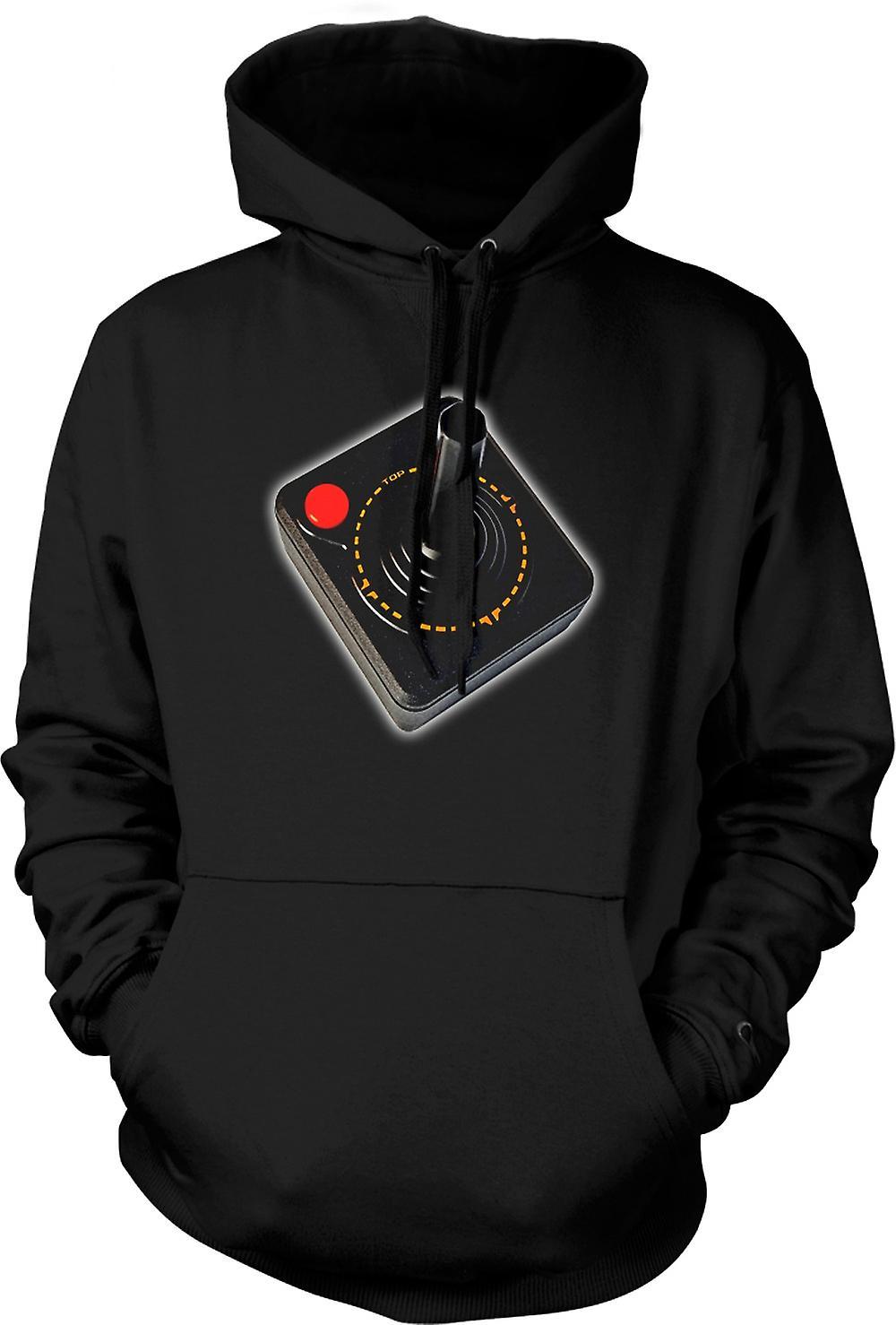 Para hombre con capucha - controlador de juegos de Atari - vieja escuela