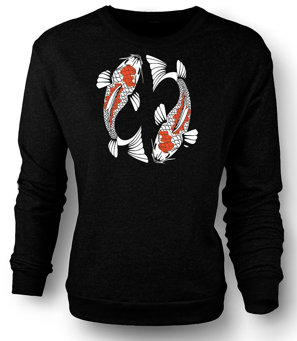 Mens Sweatshirt Koi karper Cool vis