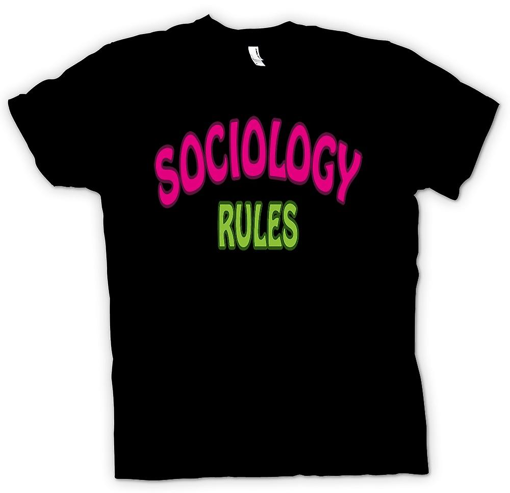 Womens T-shirt - Sociology Rule - Funny