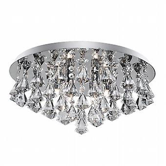 3308-8CC Hanna 8 Light Flush Ceiling Crystal Light