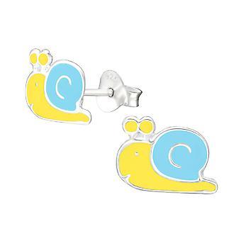Snail - 925 Sterling Silver Colourful Ear Studs - W13286X