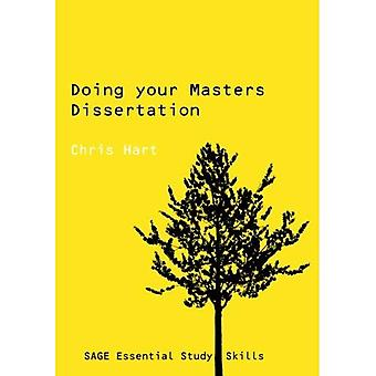 Doing Your Masters Dissertation (Essential Study Skills series)