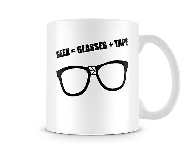 Geek = Glasses + Tape Mug