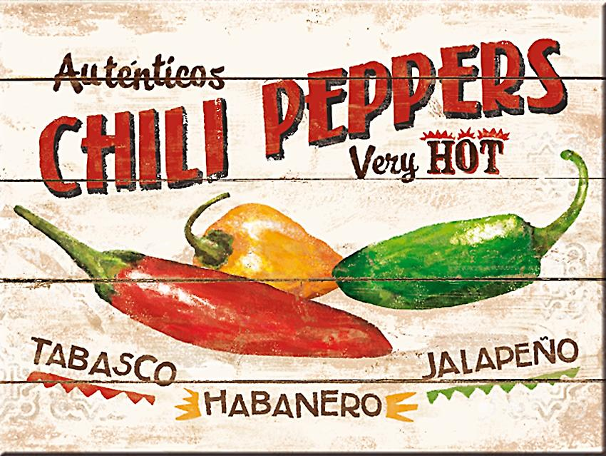 Chili Peppers steel fridge magnet  (na)