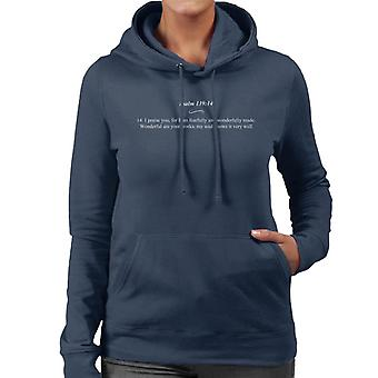 Religious Quotes Fearfully And Wonderfully Made Women's Hooded Sweatshirt