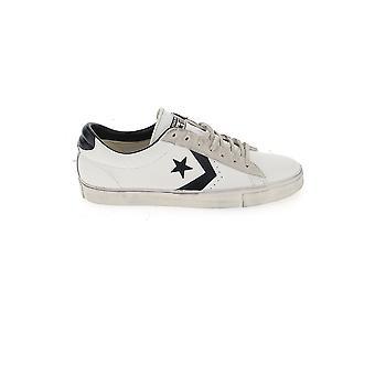 العكس أحذية جلدية بيضاء