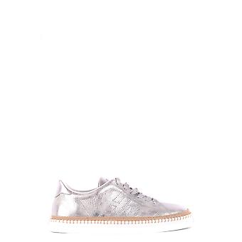 Hogan Silver Leather Sneakers