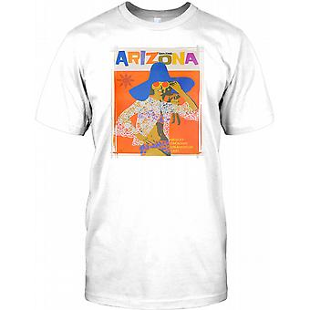 Amazing Arizona - Vintage Retro Travel Poster - Mens T Shirt