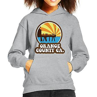Orange County CA Retro Kid's Hooded Sweatshirt