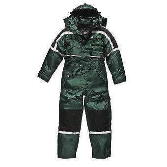 Dickies Mens Workwear Waterproof Padded Coverall Green WP15000G