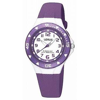 Lorus Kinder paars Rubber Strap R2337DX9 Watch