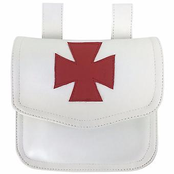 Caballero Templarios bolsa de limosna blanca