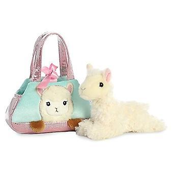 Aurora Peek a Boo-Llama Plush Pet Carrier Purse