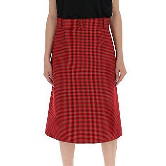 Balenciaga Red Cotton Skirt