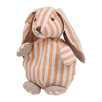 Childrens Stripey Heatable Cherry Pit Pillow: Bunny