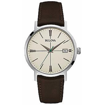 Bulova Mens Aerojet Brown Leather Strap 96B242 Watch