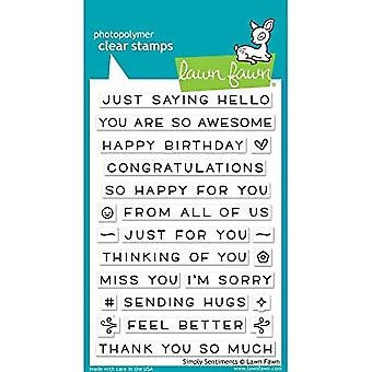 Lawn Fawn Simply Sentiments Clear Stamps (LF1601)