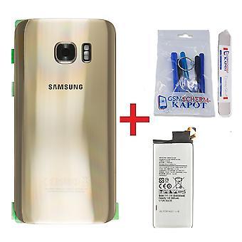 Für Samsung Galaxy S7 Rückabdeckung + Batterie-Gold