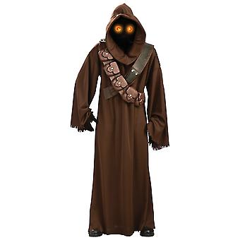 Jawa Deluxe Star Wars clássico filme Light up Eyes licenciado adulto Mens costume