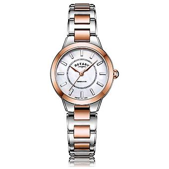 Rotary   Ladies Two Tone Rose Gold Bracelet   LB05377/41 Watch