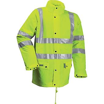 Lyngsoe Microflex FR Hi Vis Yellow Winter Rain Jacket FR - Yellow