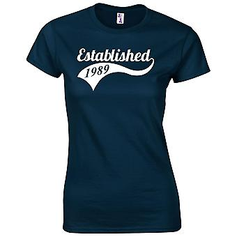 30th Birthday Gifts for Women Her Established 1989 T-Shirt
