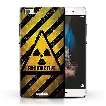 STUFF4 Case/Cover for Huawei P8 Lite/Radiation/Hazard Warning Signs