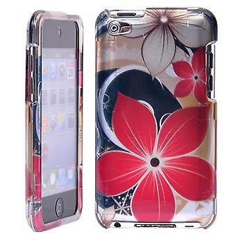 Harde plastic omslag met bloemen-iPod touch 4