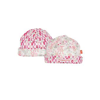 Magnificent Baby Magnetic Me™ Reversible Baby Girl Cap- Yoga Monkey
