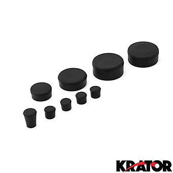 Black Rubber Motorcycle Frame Fairings Plugs Set For 2005 Suzuki GSXR 1000 / GSX-R1000